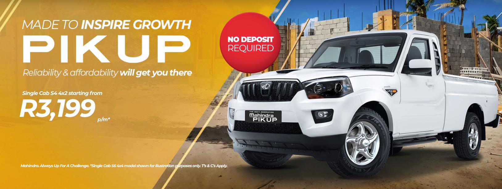 Mahindra Pik-Up Single Cab Bloemfontein